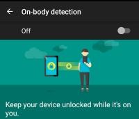 Smart Lock On-body Detection
