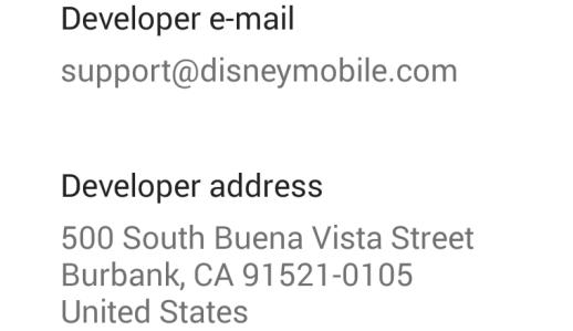 Dev address in Google Play
