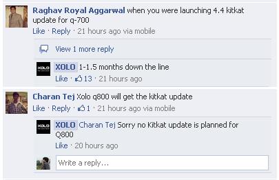 XOLO Q700 KitKat update plans