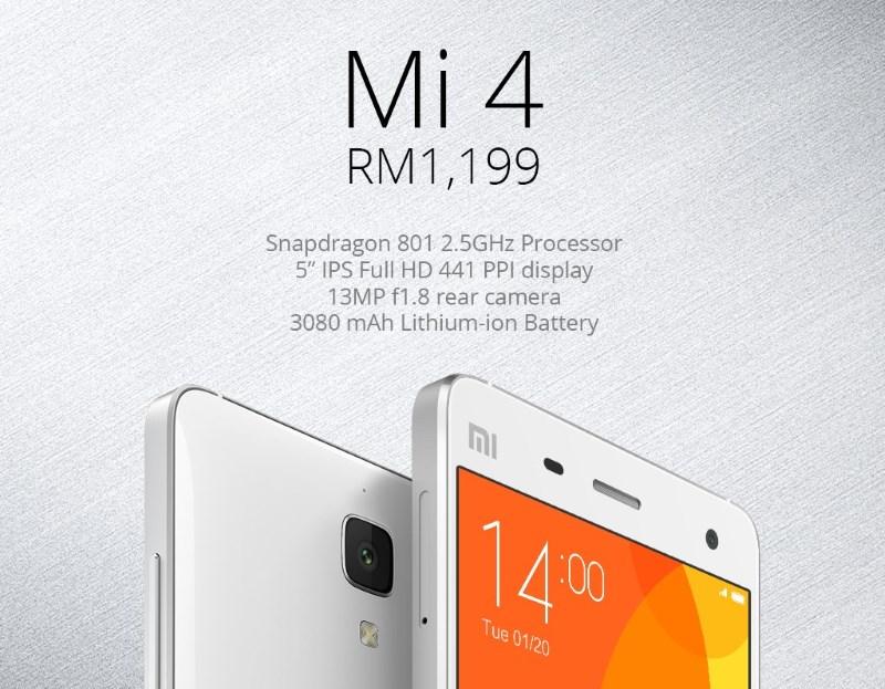 Mi 4 in Malaysia