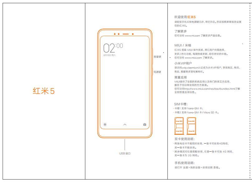Xiaomi Redmi 5 manual
