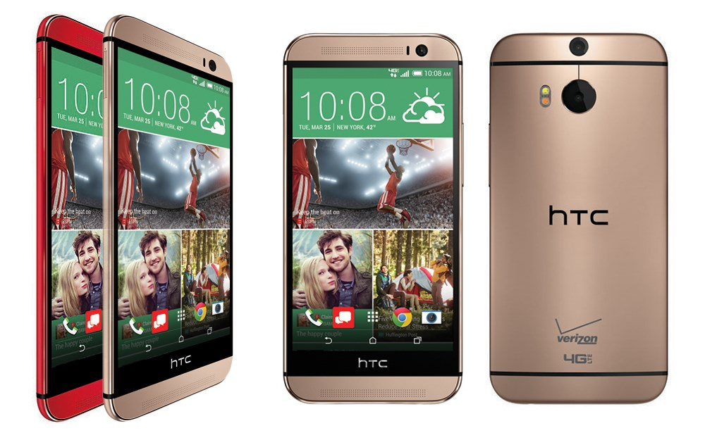 HTC One M8- in Red and Amber Gold