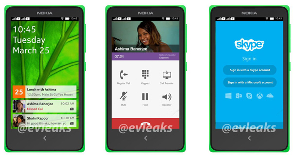 Nokia Android interface