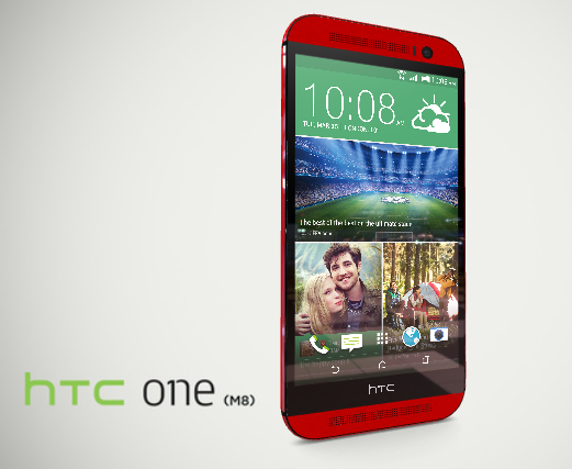 HTC One (M8) in Red