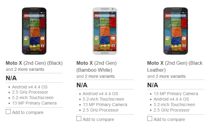 New Moto X variants for India