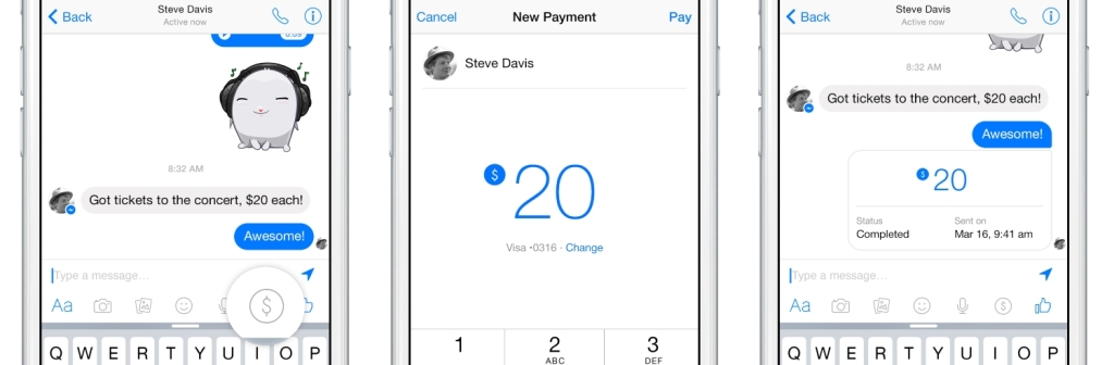 Payments in Facebook Messenger