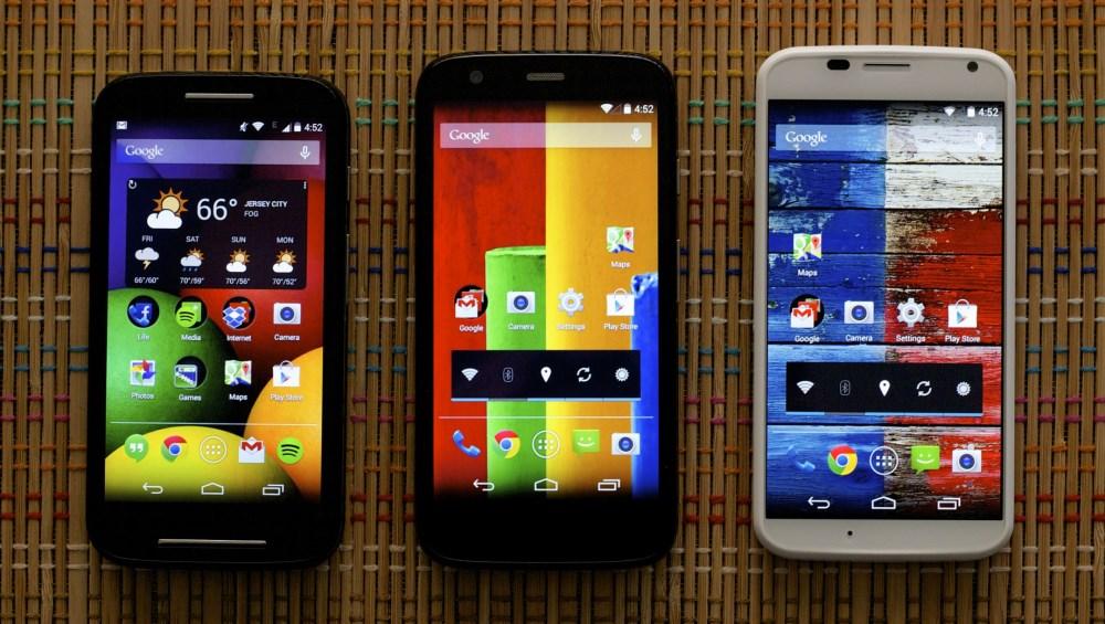Moto X, Moto G and Moto E
