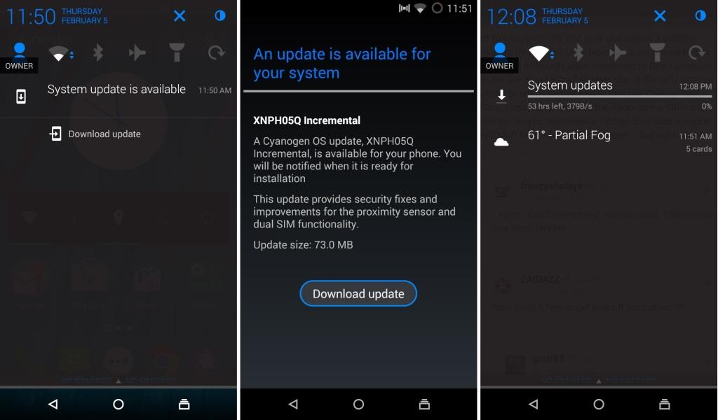 Cyanogen OS update