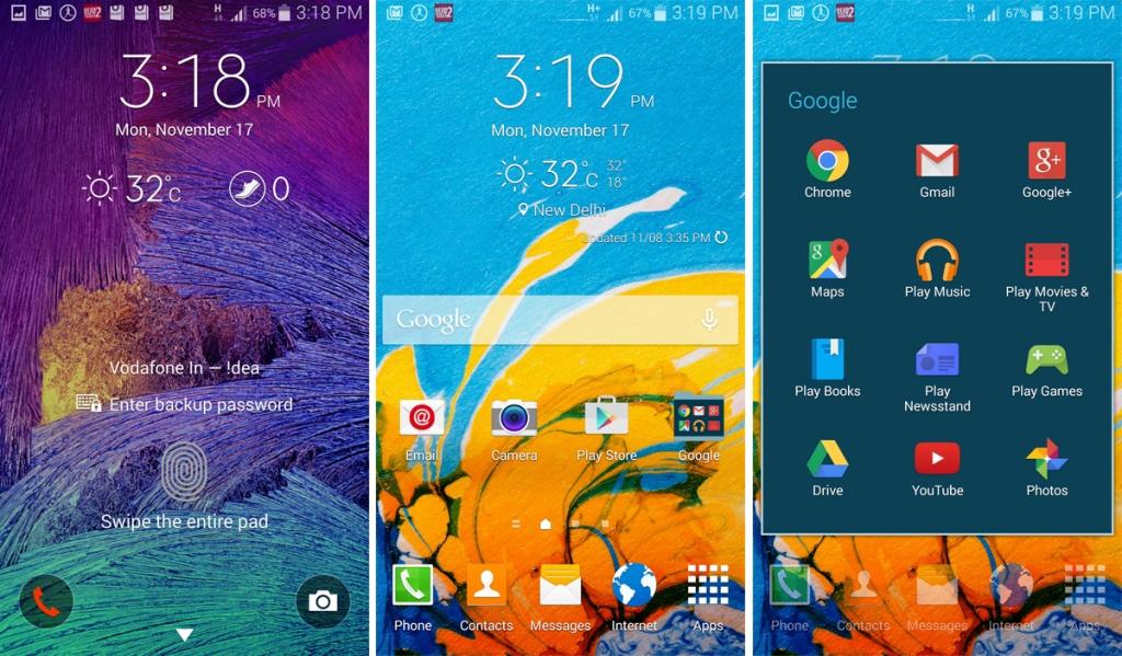 Samsung Galaxy Note 4 screenshots