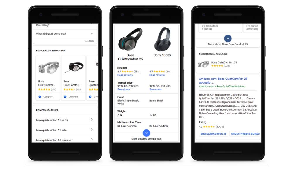 Google Shopping Search on mobile