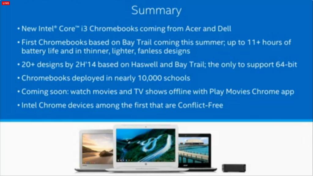 Intel-Google Chrome OS event summary