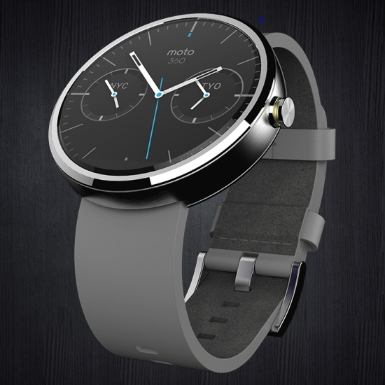 Moto 360 with Leather strap