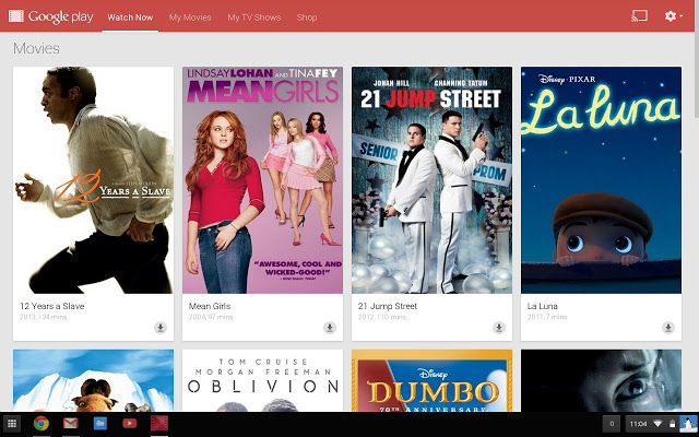 Google Play Movies and TV Chrome app