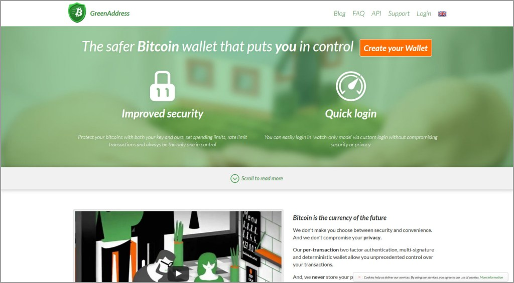 GreenAddress Bitcoin Wallet