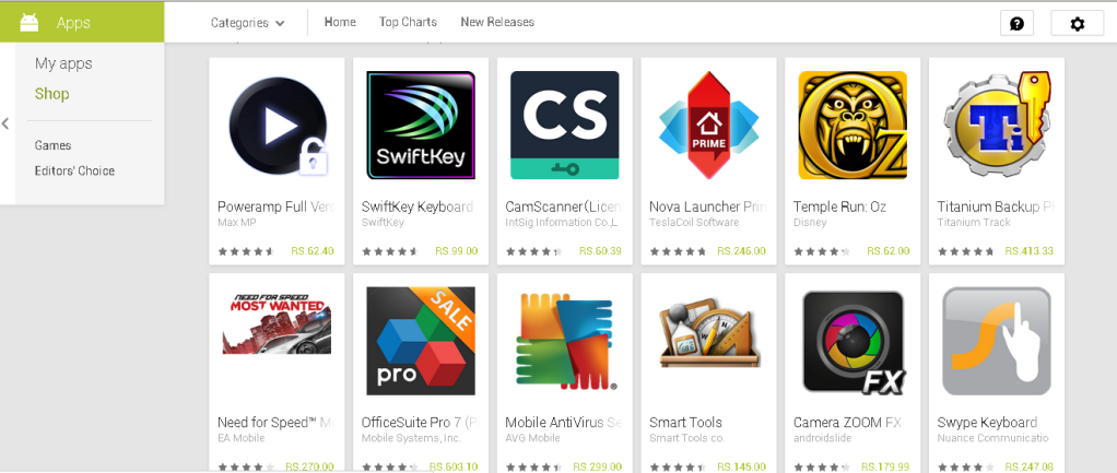 Google Play Paid apps