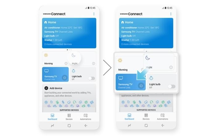 Samsung Connect in Samsung Experience 9.0
