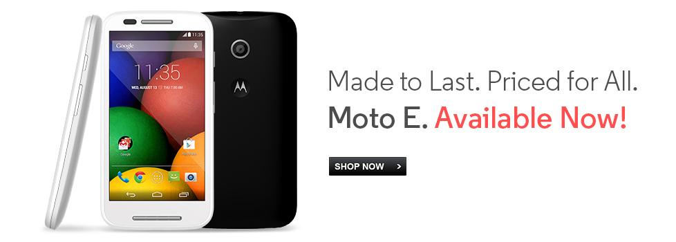 Moto E by Motorola at Flipkart