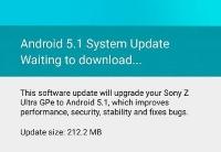 Sony Z Ultra GPe update