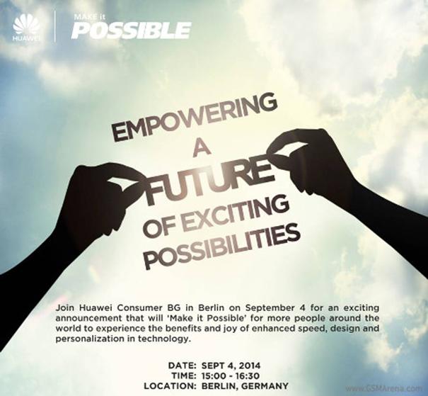 Huawei event invite IFA 2014