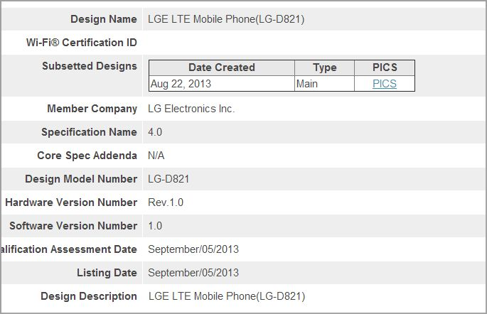 LG Nexus 5 LTE D821