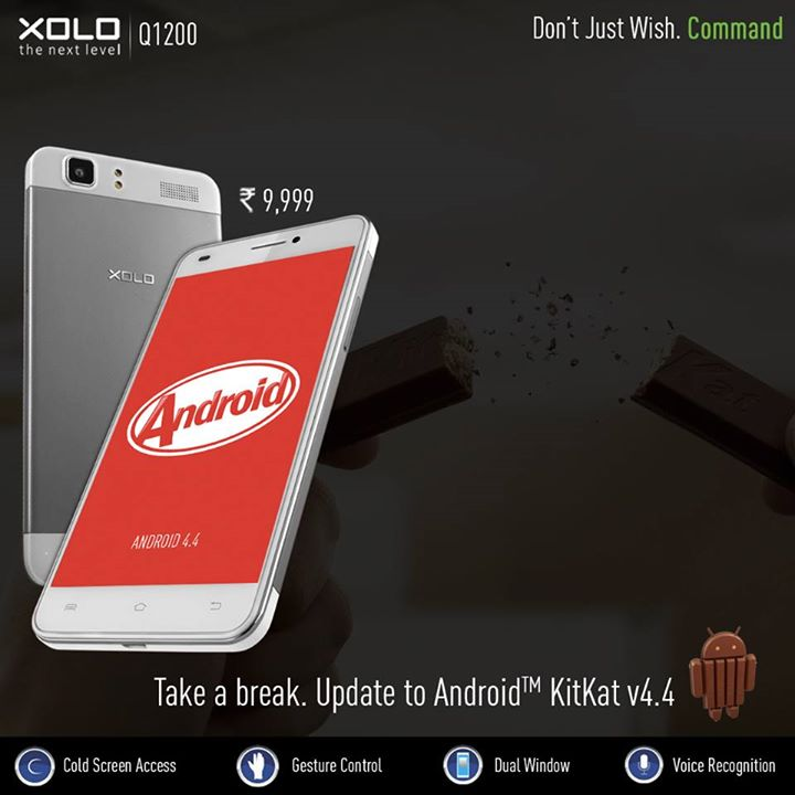 XOLO Q1200 KitKat update