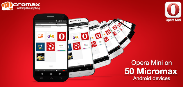 Opera Mini on Micromax