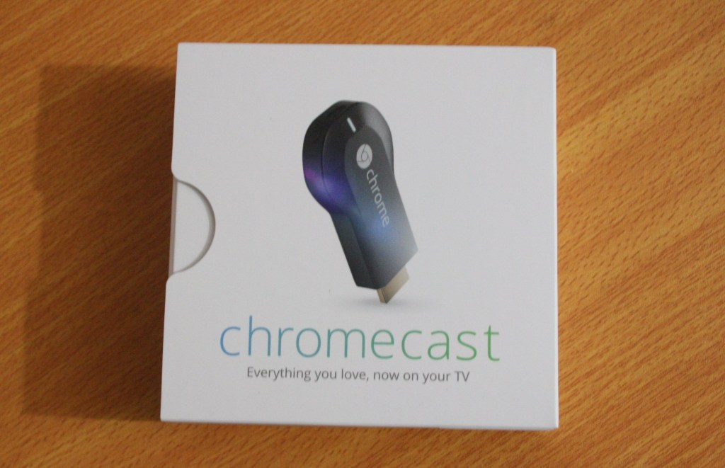 Google Chromecast box
