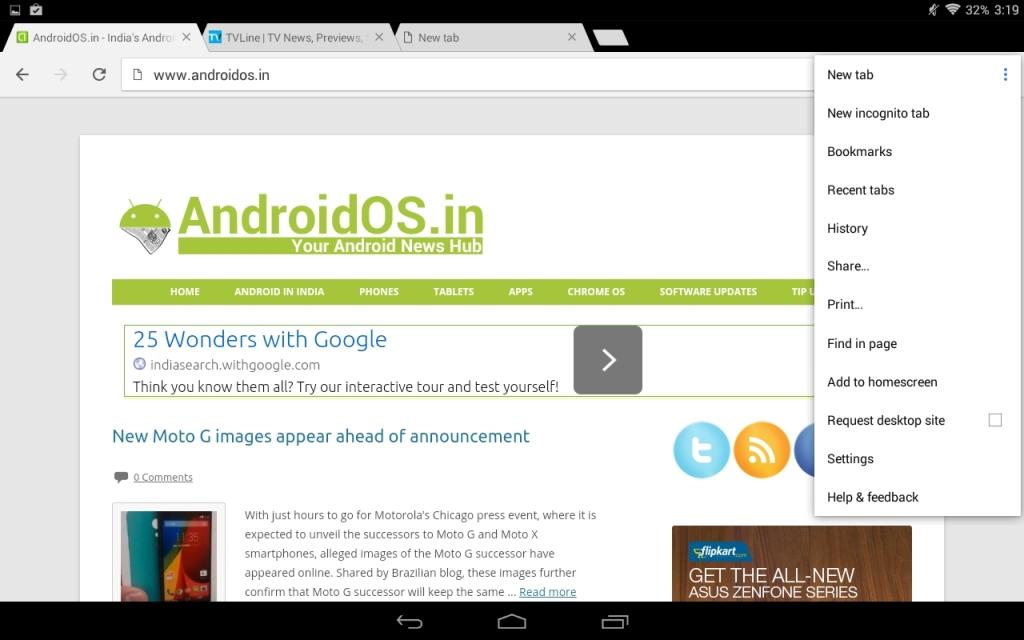 Chrome v37 for Android