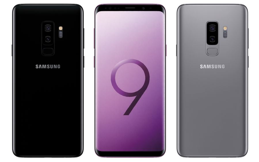 Samsung Galaxy S9 Plus in Black and Grey
