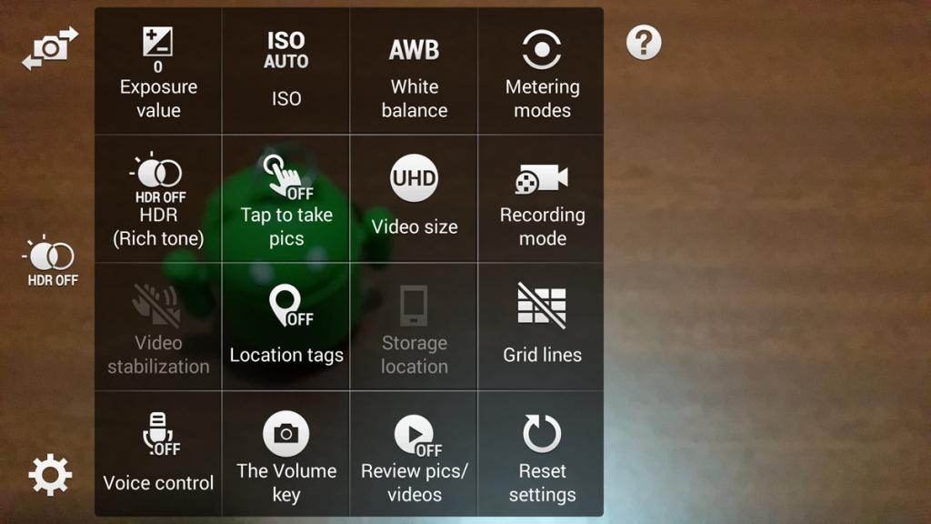 Samsung Galaxy Note 4 camera app