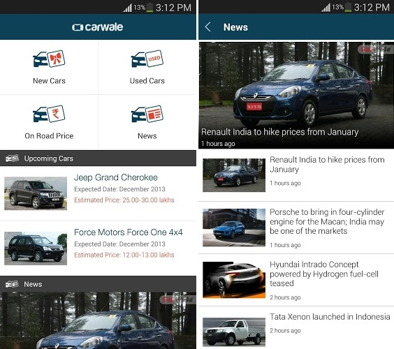 Carwale Android app