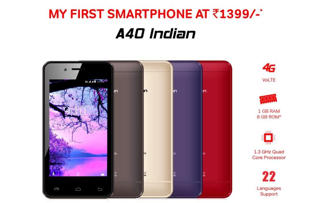 Airtel Karbonn A40 Indian