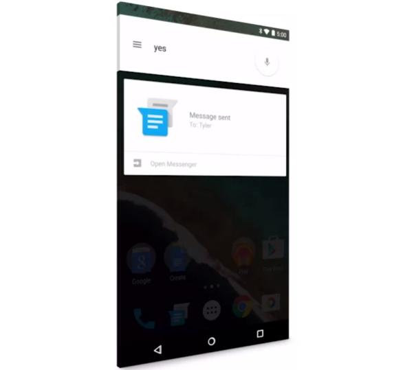 Android 5.0 Lollipop Messaging app