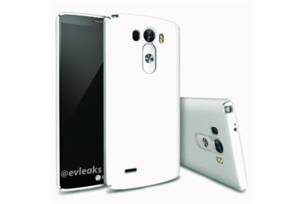White LG G3 in case