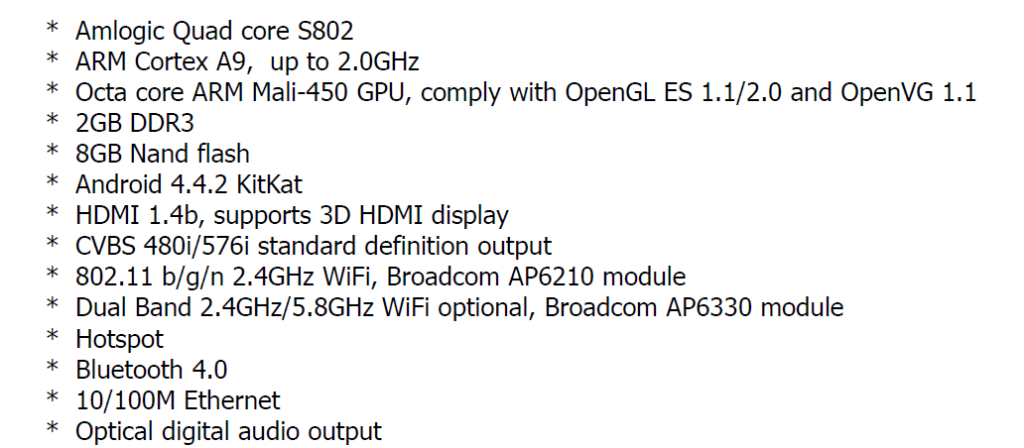 Vu 32K160M Android TV specs