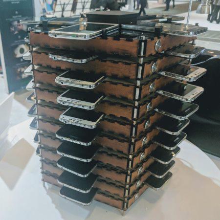 Samsung Galaxy S5 Bitcoin mining rig