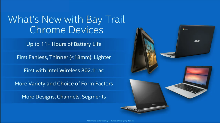 Intel Bay Trail Chrome OS device features