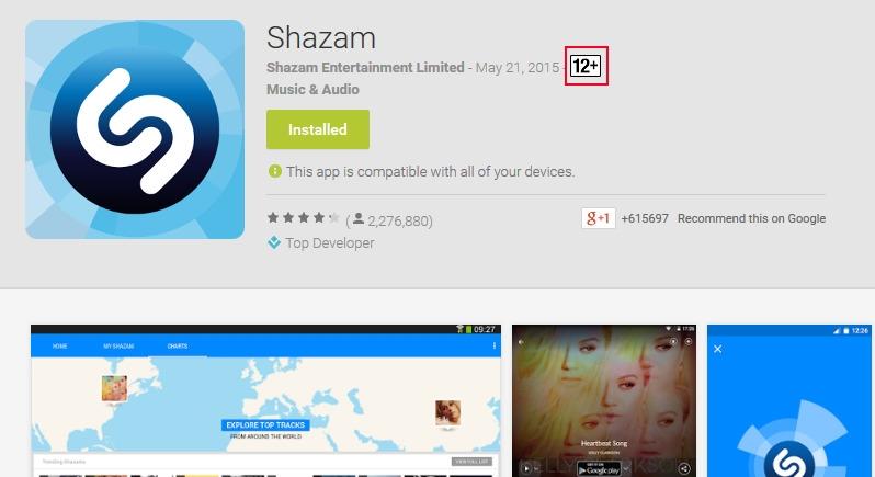 Google Play Age Ratings