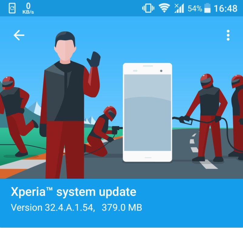 Sony Xperia Z5 update
